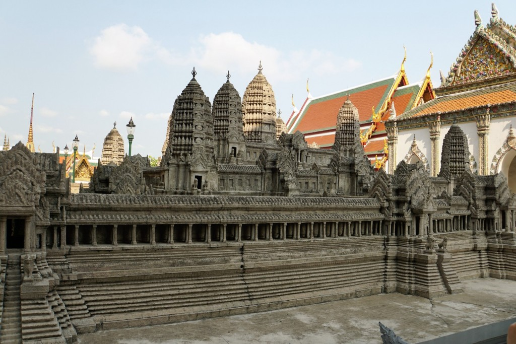 Model von Angkor Wat im Königspalst in Bangkok