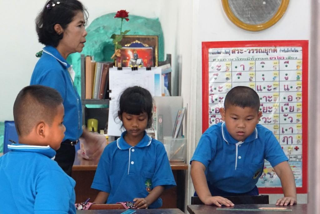 Schule auf dem Gelände von Wat Pho